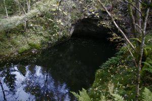 Rømteland gruve - nå fylt med vann