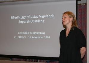 Guri Skuggen holder foredrag for historielaget i Lindesnes