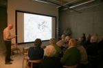 Foredrag om elektrisitet i Galleri Gustav Vigeland på Kulturtorvet