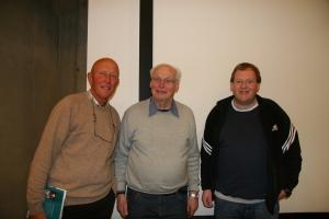 Foredragsholderne: Roar Christensen, Fridtjof Rasmussen og Per Einar Bergstøl.