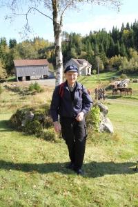 Theodor Mørkesdal må vel være blant de sprekeste på turen med sine 80 år.