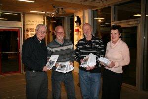 Fire i redaksjonen for Glimt: Torbjørn Stensland,  Bjørn Finstad, Jahn Kristensen og Sofie Augensen.