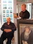 Arne Strømme fikk heder for sitt arbeid med å skaffe Peder Claussøn Friis sine bøker til bygdemuseet.