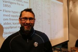 Thomas Olsen fra Statsarkivet i Kristiansand.